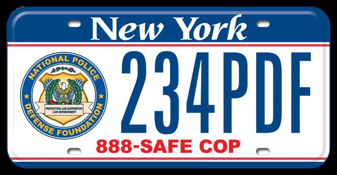 New York License Plate Program – National Police Defense